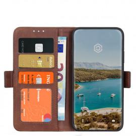 Casecentive Magnetische Leren Wallet case iPhone 12 Mini bruin