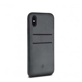 Twelve South Relaxed Leather pockets iPhone X grijs