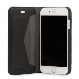 Knomo Premium Leather Folio iPhone 6(S) / 7 zwart