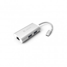 ADAM elements CASA Hub eC301 3-in-1 USB-C silver