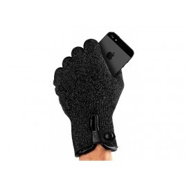 Mujjo Double-Layered Touchscreen Gloves (L) zwart