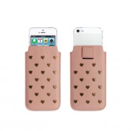 Fab Star Studs pouch case / hoesje M iPhone roze