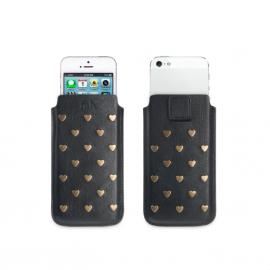 Fab Star Studs pouch case / hoesje M iPhone zwart