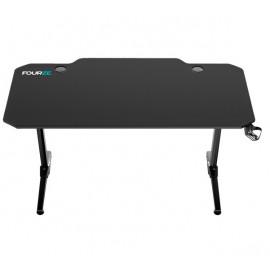 Fourze D1400 gaming desk zwart