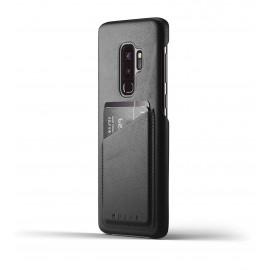 Mujjo Leather Wallet Case Galaxy S9 Plus zwart