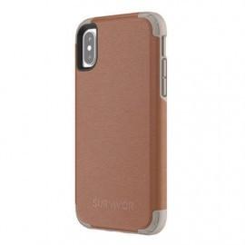 Griffin Survivor Prime Leather Case iPhone X bruin