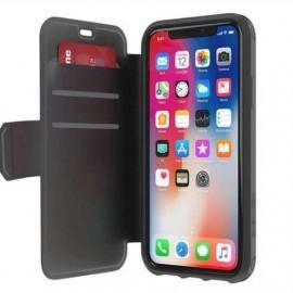 Griffin Survivor Strong Wallet iPhone X / XS zwart/donkergrijs