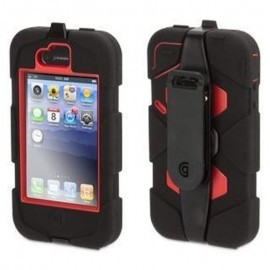 Griffin Survivor hardcase iPhone 4(S) rood/zwart