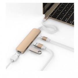 HyperDrive USB-C Adapter HDMI USB 3.1 goud