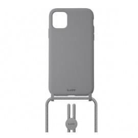 Laut Pastels case met koord iPhone 12 Mini grijs