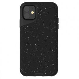 Mous Contour Leather iPhone 11 gespikkeld zwart