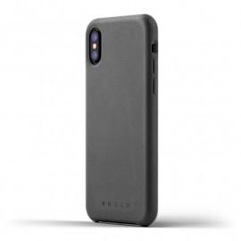 Mujjo Leather Case iPhone X grey