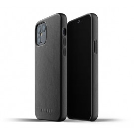 Mujjo Leather Case iPhone 12 Max / Pro zwart