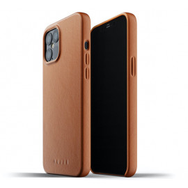 Mujjo Leather Case iPhone 12 Pro Max bruin