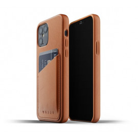 Mujjo Leather Wallet Case iPhone 12 Max / Pro bruin