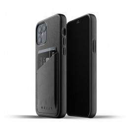 Mujjo Leather Wallet Case iPhone 12 Max / Pro zwart