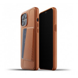 Mujjo Leather Wallet Case iPhone 12 Pro Max bruin