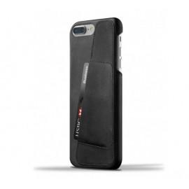 Mujjo Leather Wallet Case iPhone 7 Plus zwart