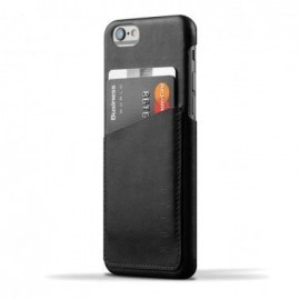 Mujjo wallet leren case/sleeve iPhone 6 zwart