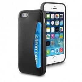 Muvit Leatherette Cardslot Case iPhone 5(S)/SE zwart