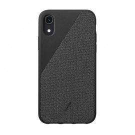 Native Union Clic Canvas case iPhone XR zwart