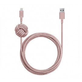 Native Union Kevlar Night Lightning kabel 3m roze