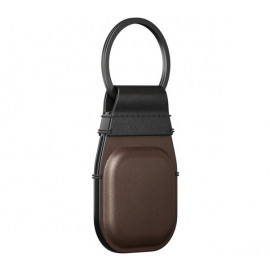 Nomad Airtag Leather Keychain bruin