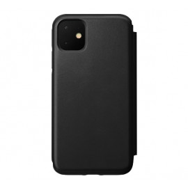 Nomad Rugged Folio Leather Case iPhone 11 zwart