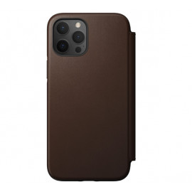 Nomad Rugged Folio Leather Case iPhone 12 Pro Max bruin
