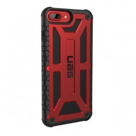 Urban Armor Gear Hard Case iPhone 8/7/6S Plus Monarch roodzwart