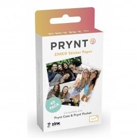 """Prynt Zink Sticker Papier 2x3"""" 40x"""
