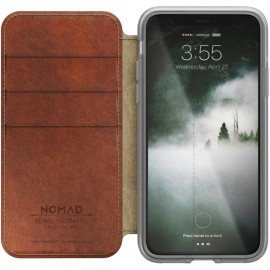 Nomad Clear Folio Case iPhone X / XS bruin