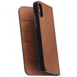 Nomad Leather Folio Case iPhone X / XS bruin