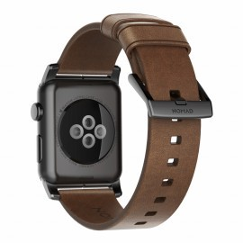 Nomad modern leren bandje Apple Watch 42/44 mm bruin / zwart
