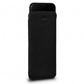 Sena UltraSlim Leather Sleeve for iPhone XS Max zwart
