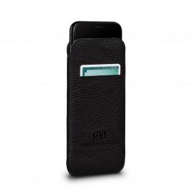 Sena UltraSlim Leather Wallet Sleeve iPhone X / XS zwart
