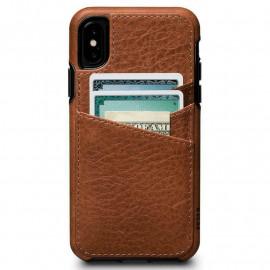 Sena Lugano Wallet Case iPhone XS / X  Saddle bruin