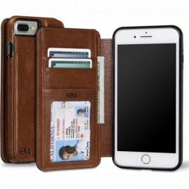 Sena Heritage Wallet case Cognac iPhone 8 / 7 Plus Cognac
