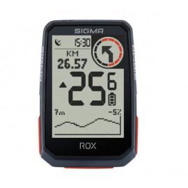 Sigma ROX 4.0 GPS fietscomputer zwart HR + CAD/Snel Sensor Top Mount Set
