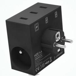 usbepower HIDE 5-in-1 wall charger zwart